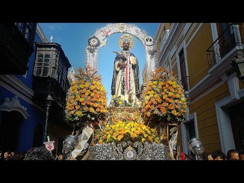 PROCESION DE SAN MARTIN DE PORRES DE LIMA POR LOS 55 AÑOS DE SU CANONIZACION 07/05/2017