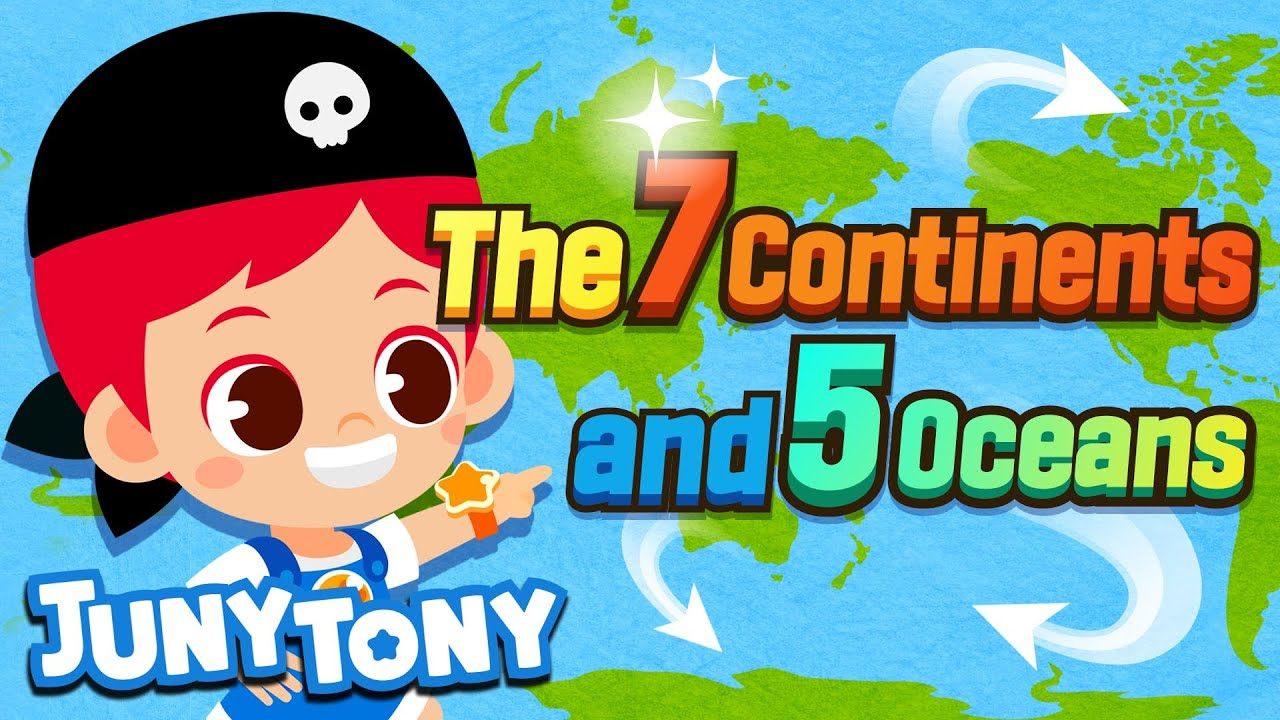 [NEW] The 7 Continents and 5 Oceans | Geography Song for Kids | Kindergarten Song | JunyTony