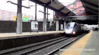 [HD] Acela Express No.2255 and MBTA- Boston Back Bay Station, MA