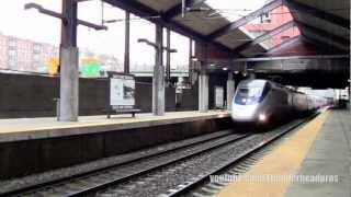 [HD] Acela Express No.2255 and MBTA- Boston Back Bay Station, MA