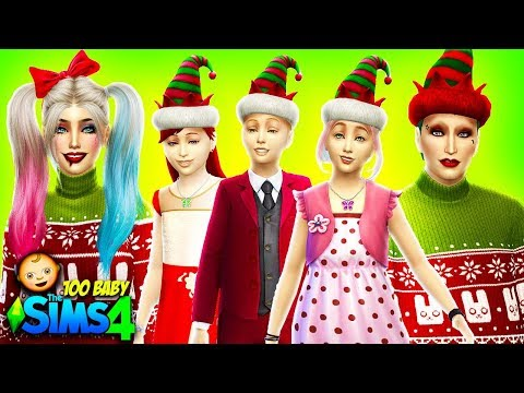 🎄CHRISTMAS BIRTHDAY PARTY🎈 The Sims 4: 100 Baby Challenge HARLEY QUINN AND JOKER   Ep 40