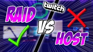 Raid vs Host | Wąs sollte man machen?!