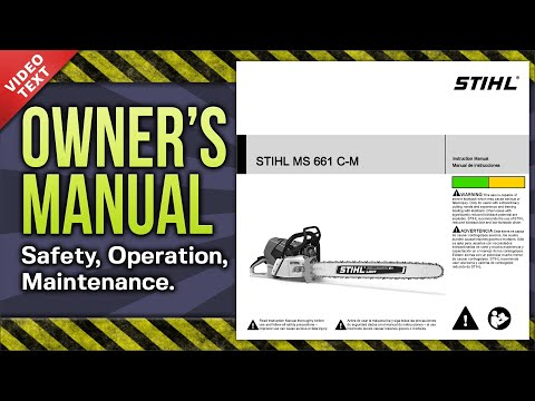 Owner's Manual: STIHL MS 661 C-M Chain Saw