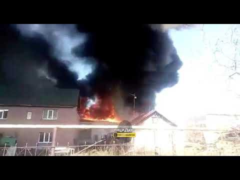 Новосибирск. Пожар в Сокуре.