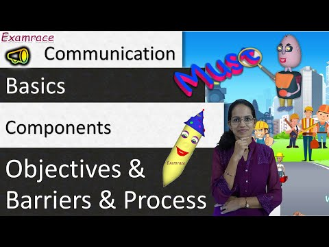Communication: Basics, Components, Objectives And Barriers & Process