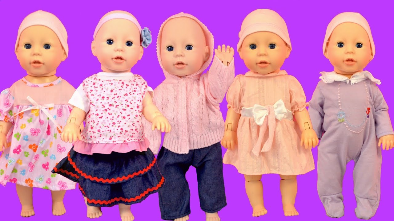 Baby Annabell Baby Dolls put on new clothes How to dress up baby ...