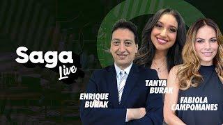 #SagaLive Fabiola Campomanes, Tanya Burak y Enrique Burak con Adela Micha