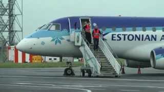 London Southend Airport Embraer ERJ 170 Estonian Air January 2014