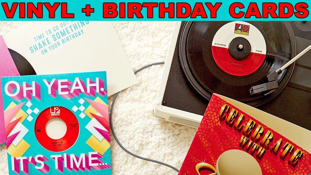 Vinyl Birthday Cards Hallmark Bundles Singles With Greeting