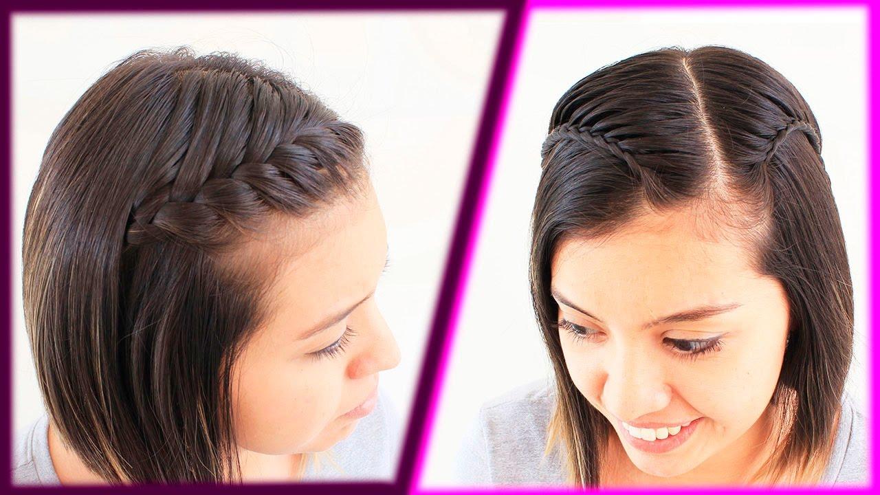 peinados fciles para cabello corto peinado con trenza hairstyle for short hair youtube