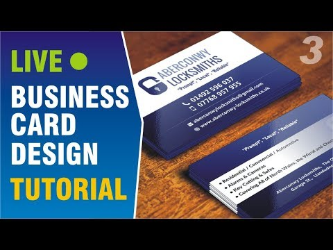 Business Card Design Tutorial on Live Project #3 thumbnail