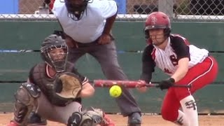 Umpire Bad Call? Emily Burrow SoCal Sacrifice Bunt vs Stealth @ TCS Softball Showcase Tournament
