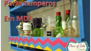 Porta Temperos Em MDF D.i.y.(wood Spice Rack) | Fazendo Arte 07 | #pocfazendoarte