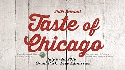2016 Taste of Chicago, July 6 - 10