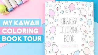 Kawaii Coloring Book Tour! ~ KiraKira Coloring Foodies & Cuties