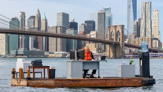 Socially Distanced Office Floating in the Middle of the East River in NYC