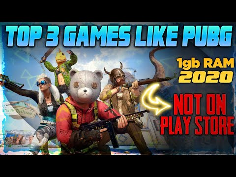 TOP-3 GAMES Like PUBG MOBILE For 1gb RAM PHONES || NO LAG || NO FREE FIRE #TOP #PUBG #PTO #GAME