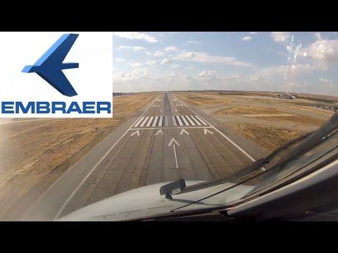 Embraer 120 Brasilia Ferry Flight Cockpit Landing