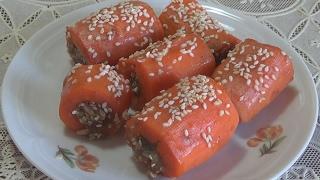 Сладкая фаршированная морковь. Здоровая еда.