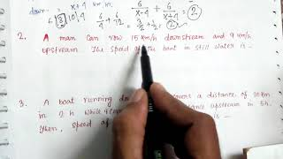 458. BOAT & STREAM MATHEMATICAL PROBLEM SOLVE