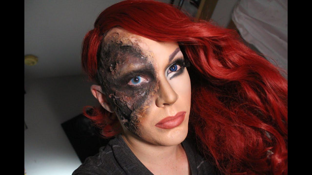 Half Burned Drag Makeup Youtube