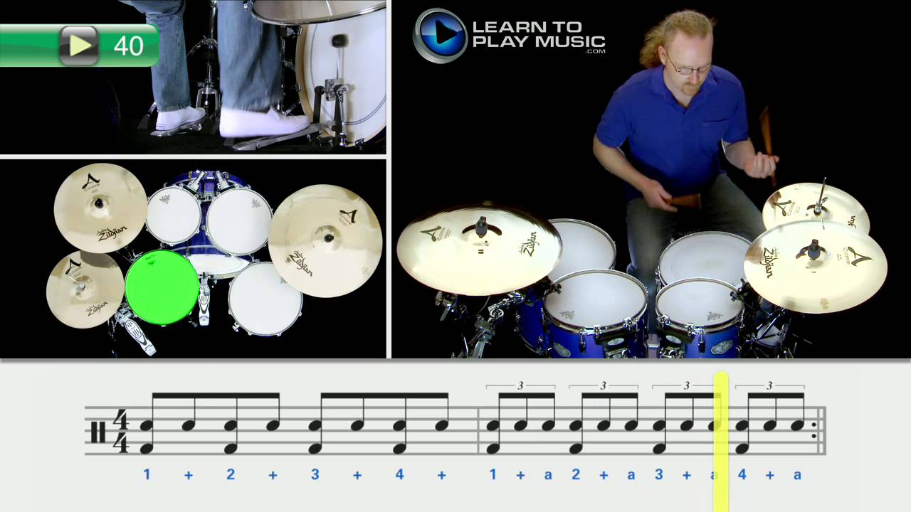 Free Beginner Drums Lesson 5 - Learn To Play Music Blog