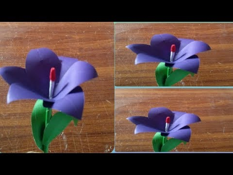 how to make unique paper flower from craft paper/easy craft idea/diy amazing flower 2019
