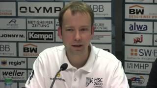 SG BBM Bietigheim vs. HSC 2000 Coburg / Pressekonferenz / Interviews / Spielszenen der Partie