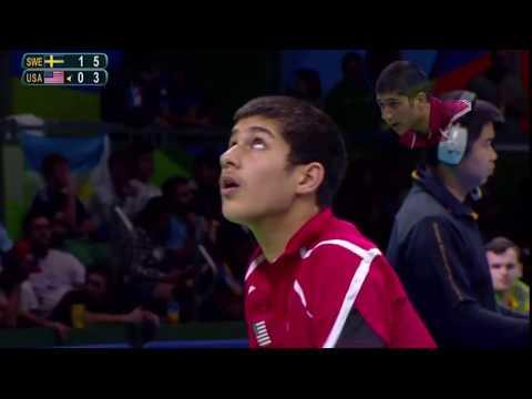 USA Olympian Table Tennis player K.J. great performance - Aug 2016