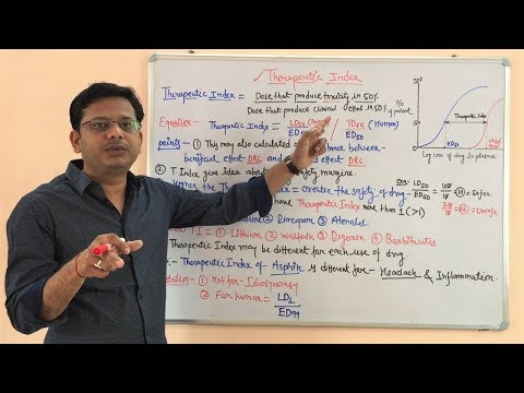 Therapeutic Index- Ratio between TD50 & ED50 by Solution-Pharmacy in Hindi