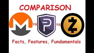 Monero vs PIVX vs Zcash, Simple Comparison