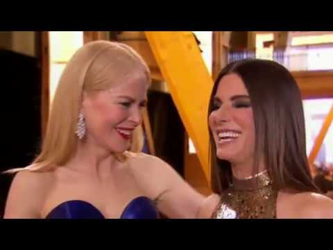 Sandra Bullock interrupted by Nicole Kidman at 2018 Oscars