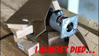!!WARNING!! Do NOT Build This Circle Jig! I almost died...
