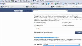 Comment donner un url à votre page Facebook  professionnel