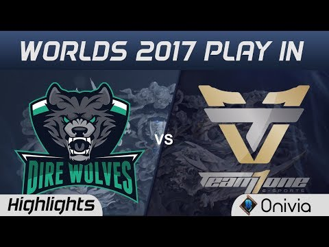 DW vs ONE Tiebreaker Highlights World Championship 2017 Play In Dire Wolves vs Team One by Onivia