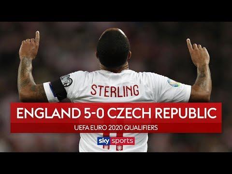 Sterling scores stunning hat-trick! | England 5-0 Czech Republic | Highlights | European Qualifiers