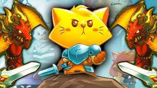 КОТЕНОК сражается с ДРАКОНАМИ в мульт игре Cat Quest детский летсплей на канале #ФГТВ