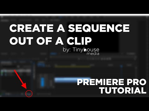 Quick Tips : Create a Sequence Using a Clip - Premiere Pro Tutorial