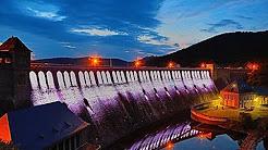 hqdefault - Die LED-Beleuchtung der Sperrmauer bei Nacht