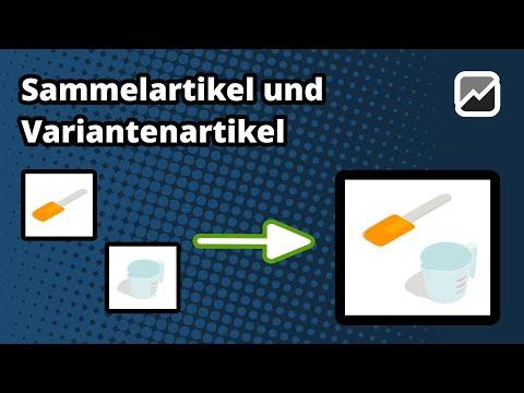 tricoma - Verwalten von Sammelartikeln und Varianten