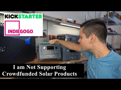 I am no longer supporting crowdfunded solar products