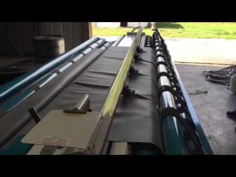 Splitting Epdm Material On Accu Cut Carpet Machine Youtube