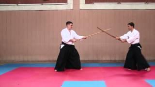2015 Практика айкидо с оружием: Кумидзё №1