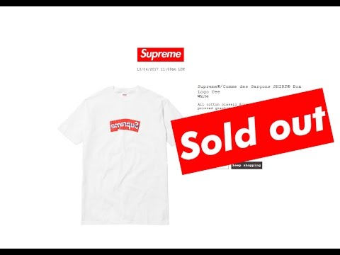 Trying To Cop Supreme X Comme Des Garçons Box Logo [CDG Edition