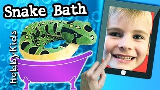 OMG!! Brave Kid playing with snake - Shocking