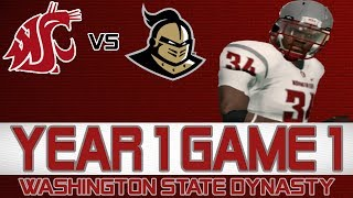 NCAA Football 14 Washington State Dynasty- Year 1 Game 1 at Central Florida