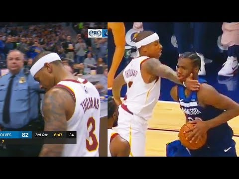 Isaiah Thomas EJECTED for Hitting Andrew Wiggins in the Face! Cavaliers vs Timberwolves