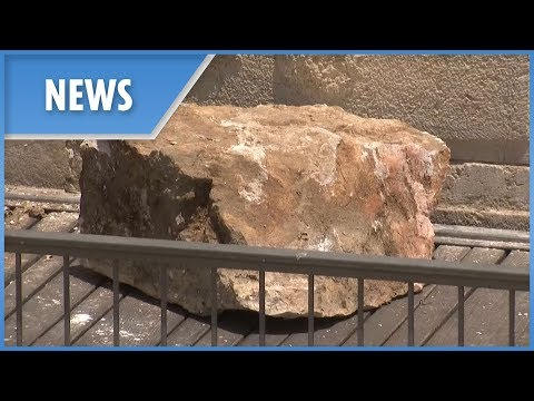 Chunk of Western Wall collapses nearly killing woman