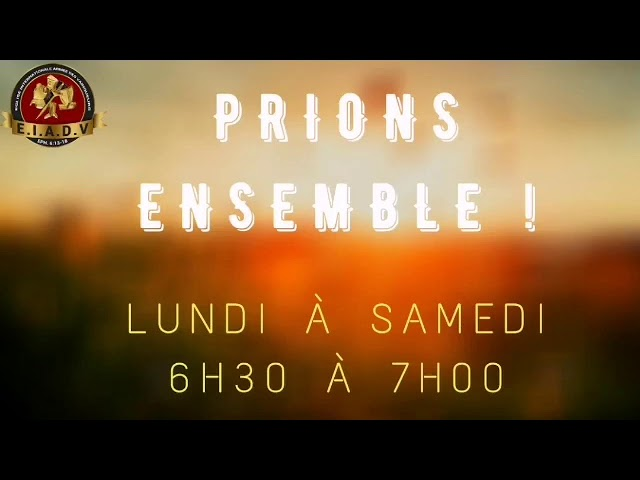 Prions ensemble - 30/11/20 - Pst. O. Sarr