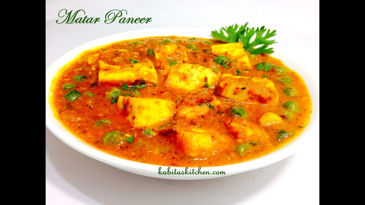 Matar Paneer Recipe-Restaurant Style Matar Paneer-Easy and Quick ...